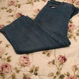 Denim crop jeans